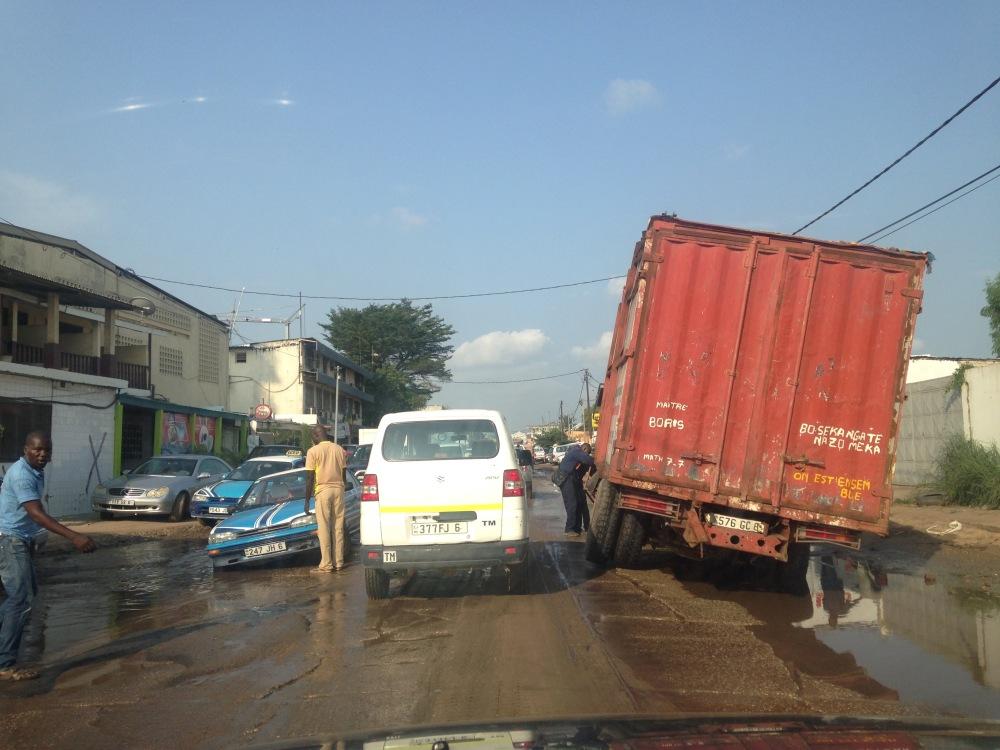 Truck & Taxi stuck