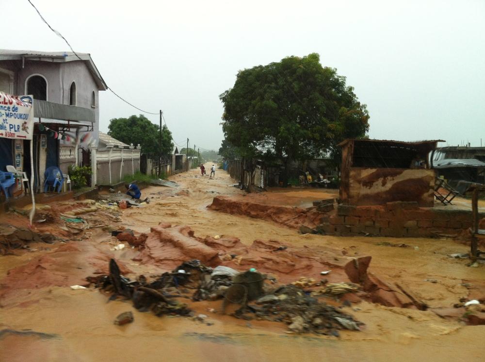 Roads after rain